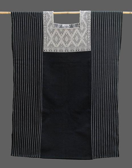 Blusón Telar San Andrés negro-perla