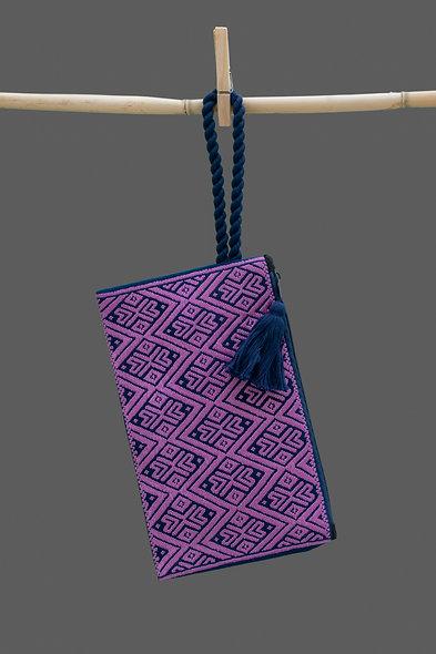 Bolsa Clutch lila - azul