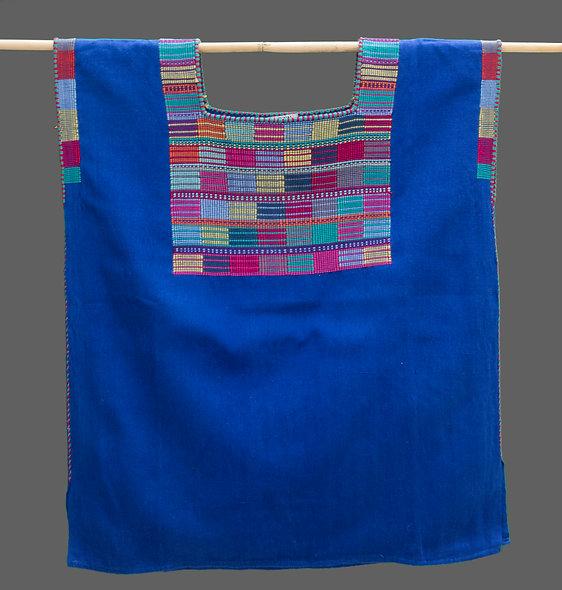 Huipil Tradicional Cancuc azul