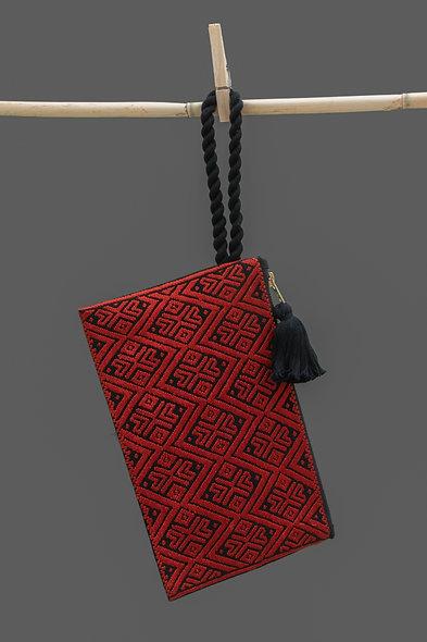 Bolsa Clutch roja - negro