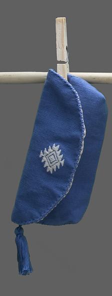 Portalentes brocado azul plúmbago