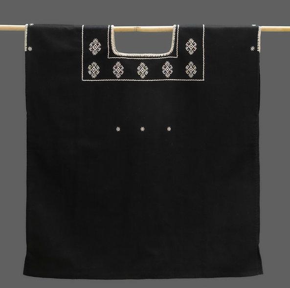 Blusa sencilla Chenalhó negra