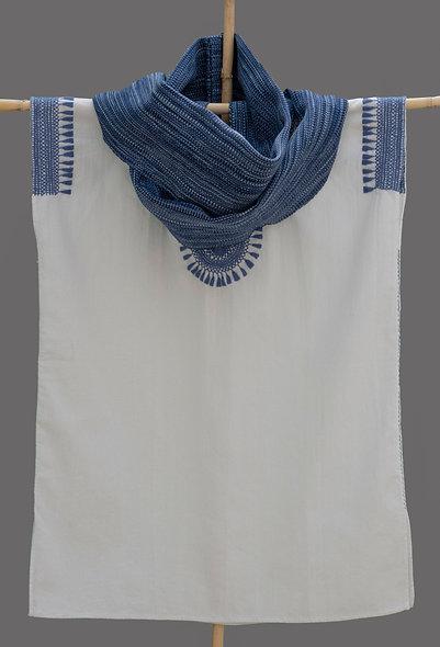 Bufanda Infinito azul
