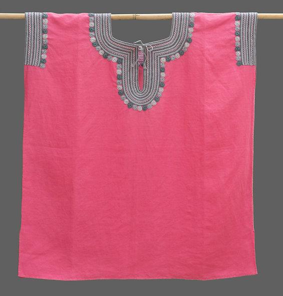 Blusa Chamula Antigua rosa