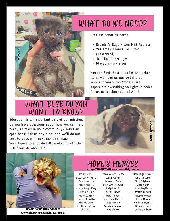 A HOPE Newsletter