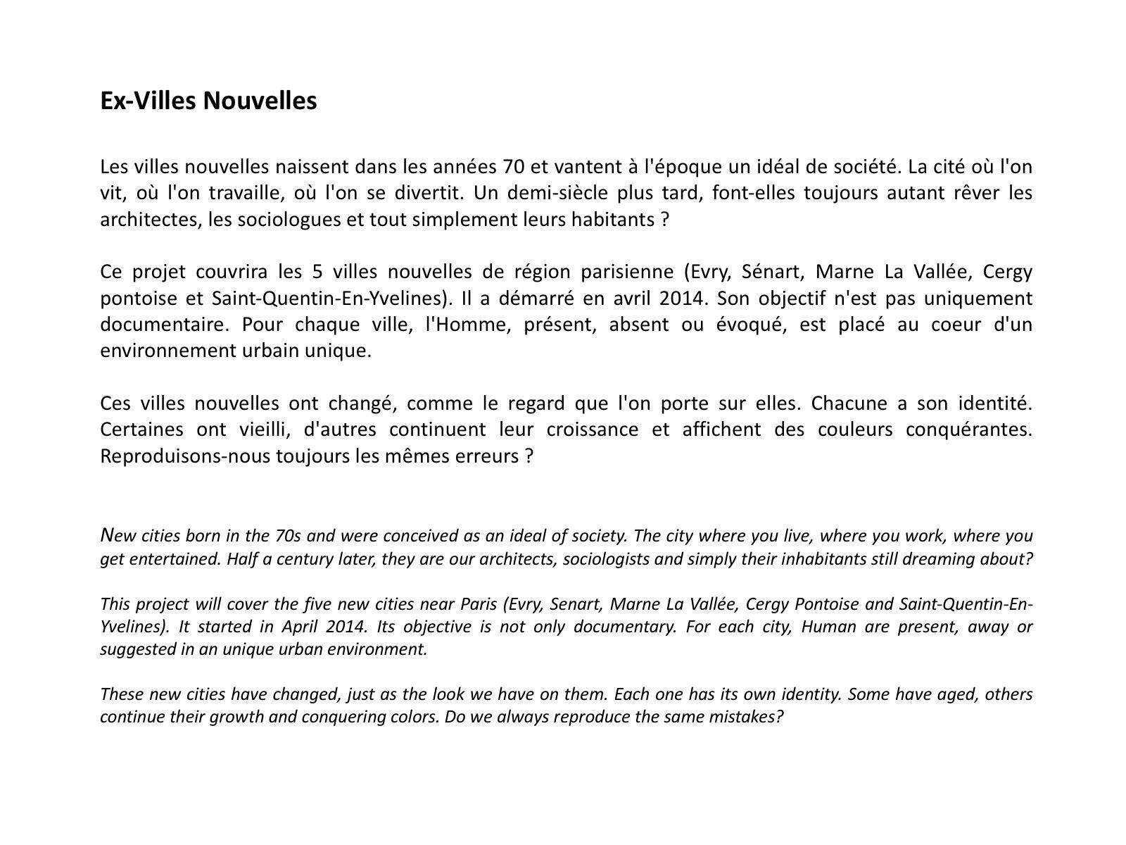 Intro Ex Villes Nouvelles