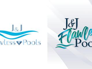 Logo Refresh - J&J Flawless Pools