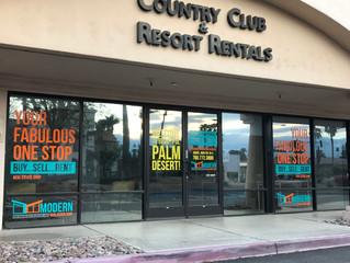 Window Decals - Modern Vacation Rentals, Palm Desert CA