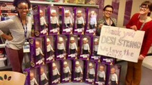 The gift of giving Desi Strong dolls to Children's Hospital Los Angeles.