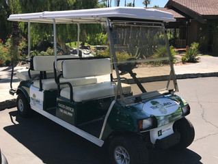 Golf Cart Wrap- The Lakes C.C. On-Site Sales