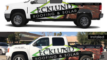 Vehicle Wrap - Ecklund Roofing & Solar
