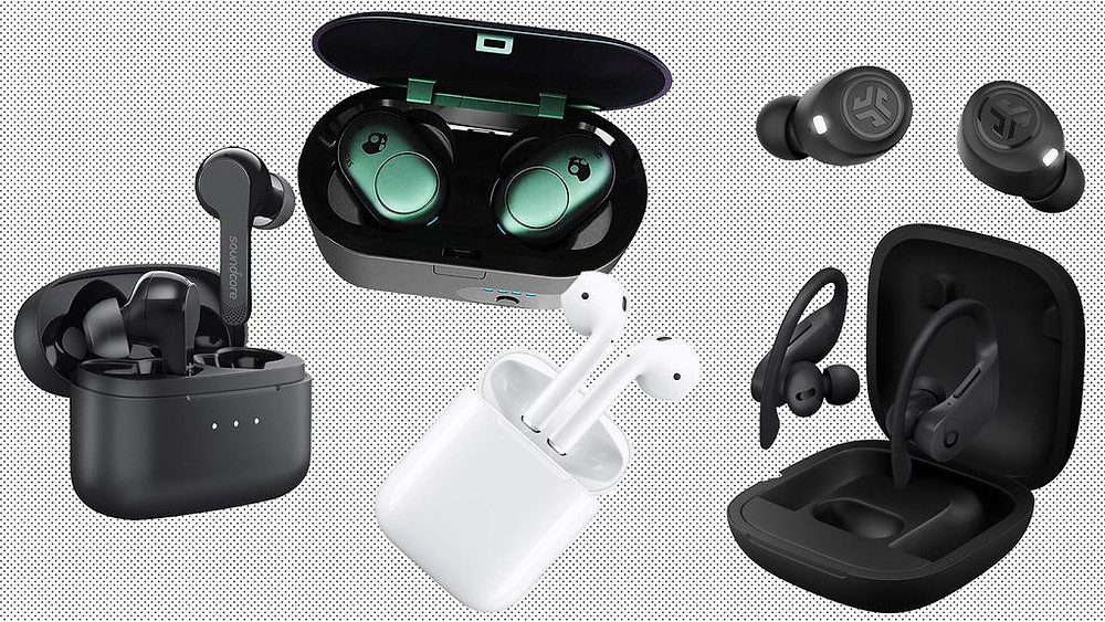 collage of airpods