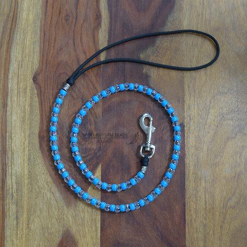 Beaded Dog Lead Range - Turquoise/Clear