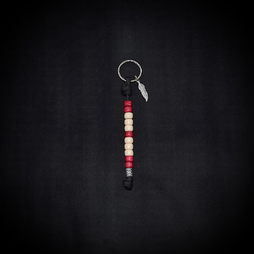 'STRONG' Beaded Key Ring - Grounding/Calming/Encouraging