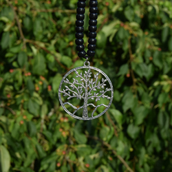tree of life Tibetan silver pendant for rhythm beads