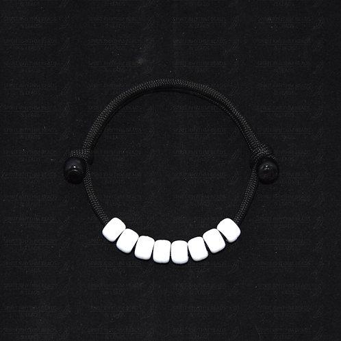 ECONOMY WHITE Adjustable Beaded Bracelet - Protecting/Calming/Comforting