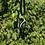 Thumbnail: Black/White/Silver Drop Lampwork Pendant
