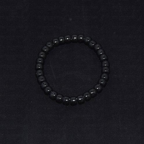 ECONOMY BLACK Elastic Beaded Bracelet - Protecting/Empowering
