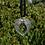 Thumbnail: Tibetan Silver Metal Heart Wings Pendant with Hanging Crystal