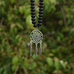 small dreamcatcher Tibetan silver pendant for rhythm beads