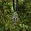 Thumbnail: Tibetan Silver Dreamcatcher 2 Pendant