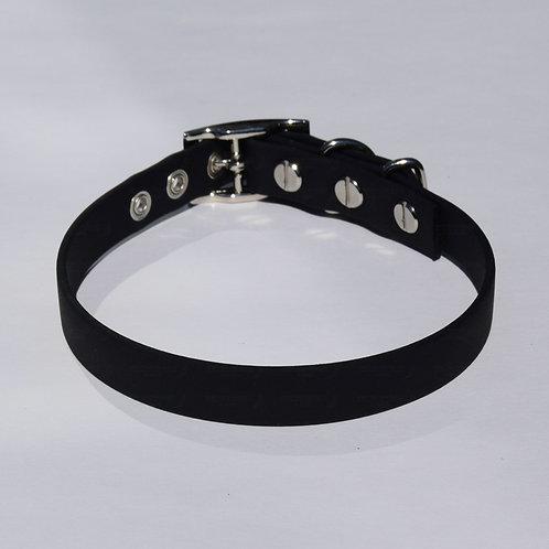 BLACK Biothane Dog Collar - S, M, L, XL, XXL, XXXL Dogs