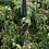 Thumbnail: Black/Gold Drop Lampwork Pendant