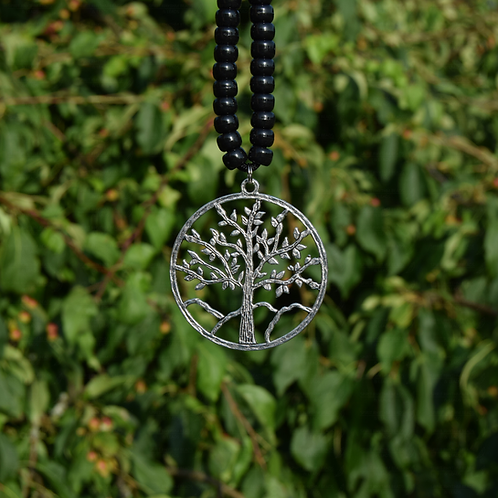 Tibetan Silver Metal Tree Of Life Pendant