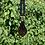 Thumbnail: Black/Gold Sparkle Drop Lampwork Pendant