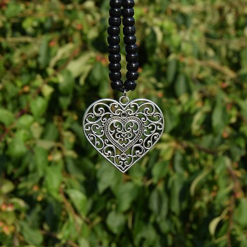 Tibetan Silver Metal Heart Pendant