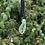 Thumbnail: Green/Black/White/Gold Drop Lampwork Pendant