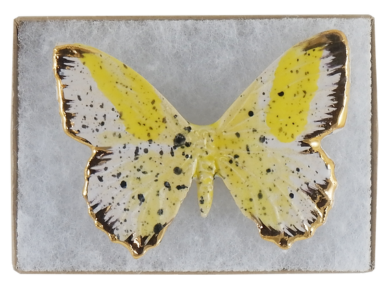 Butterscotch II Butterfly Brooch