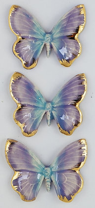 Soft Lilacs Hanging Butterfly Trio