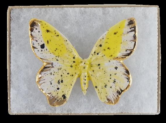 Butterscotch Butterfly Brooch