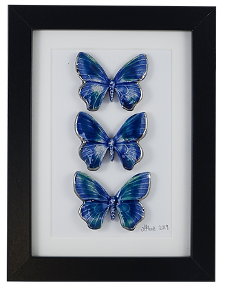 Dreamy Blue Butterfly Trio