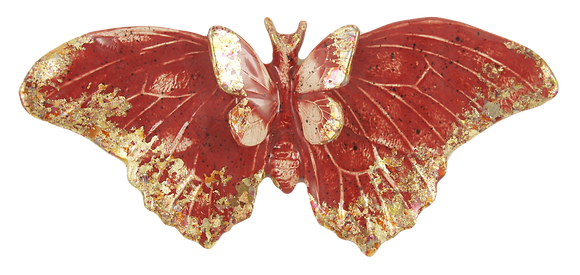 The Rare Red Large Butterfly