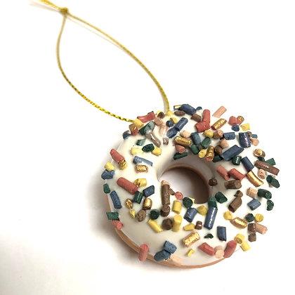 Ceramic Dinky Donut Decoration