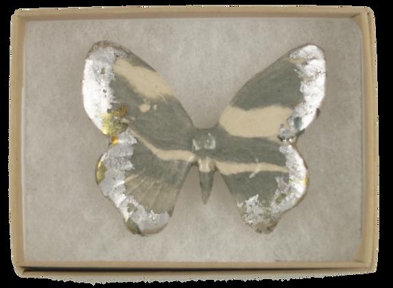 Black Marbled Butterfly Brooch II