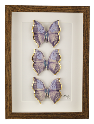 Lilac Leaf Butterfly Trio