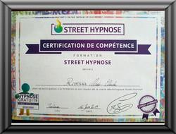 diplome street hypnose