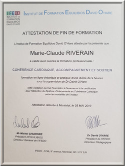 diplome cohérence cardiaque