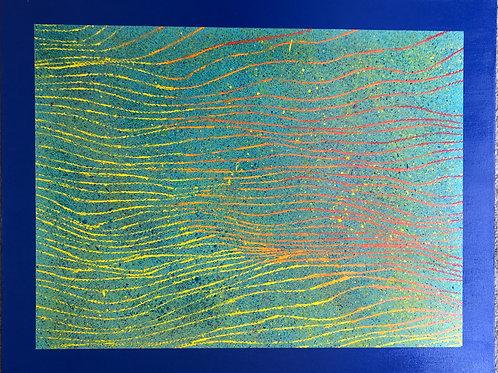 """Evolution I   (22 x 28"""" acrylic on canvas.)"""