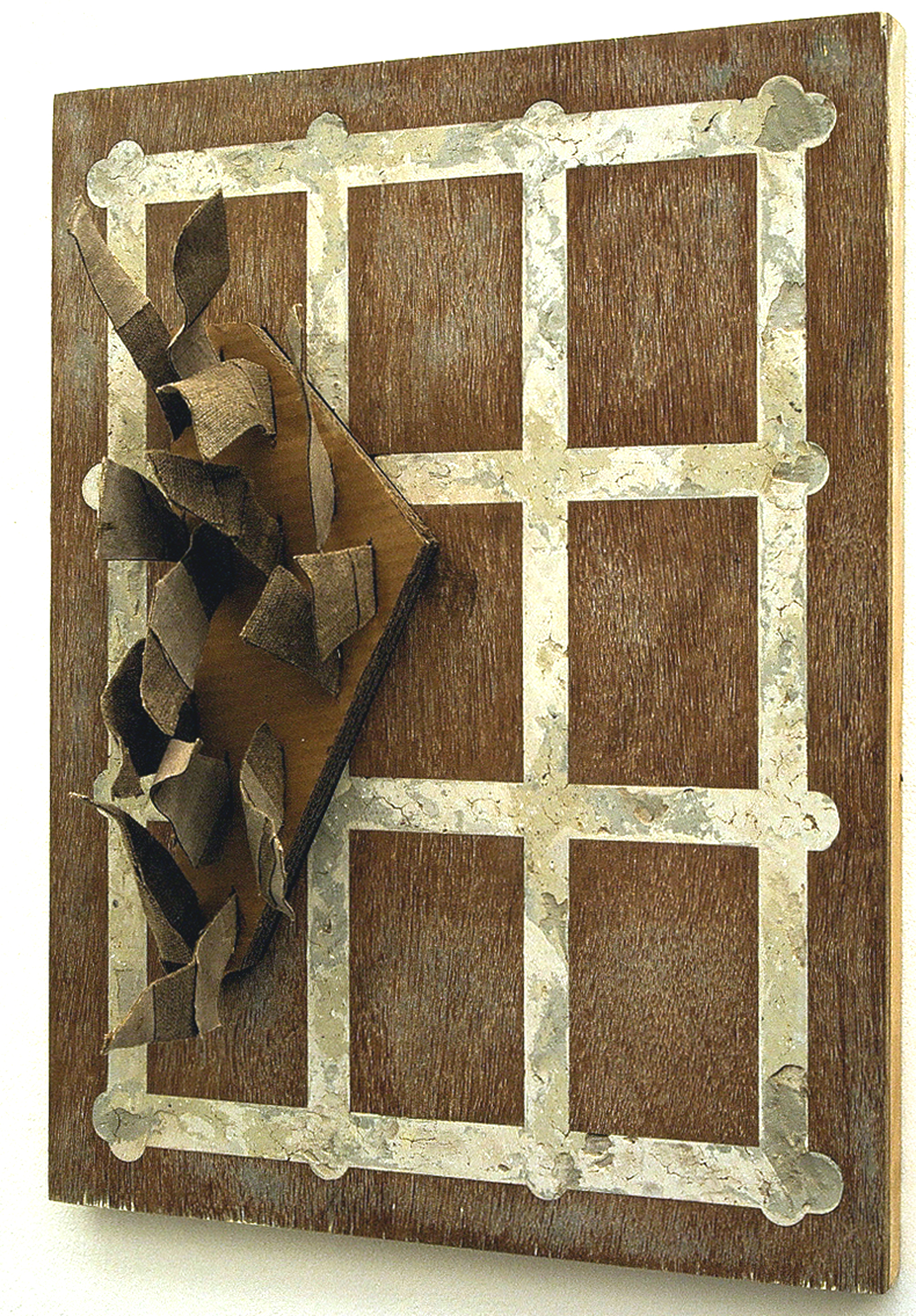 marble grid in wood side view-A3