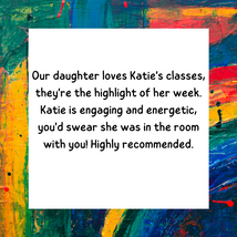Great class, Katie takes great care to i