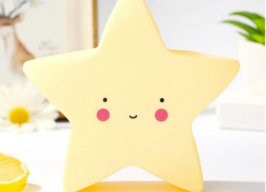 Lámpara de noche Estrella diseño amarilla