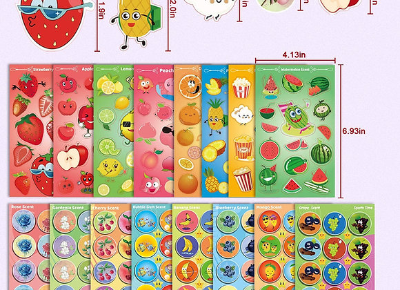 Stickers aromáticos (8 láminas)