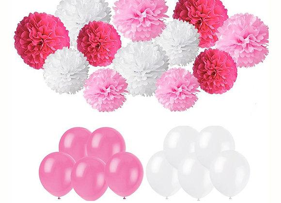 Set decoración rosa
