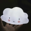 Thumbnail: Lámpara de noche Nube diseño blanca