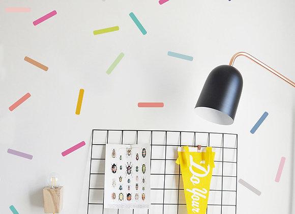 Barras de colores, Stickers Murales