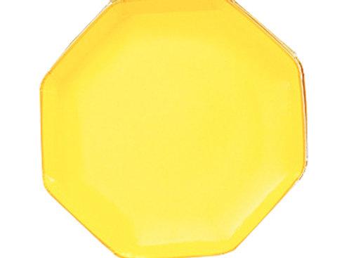 Platos pequeños hexagonales, variados colores